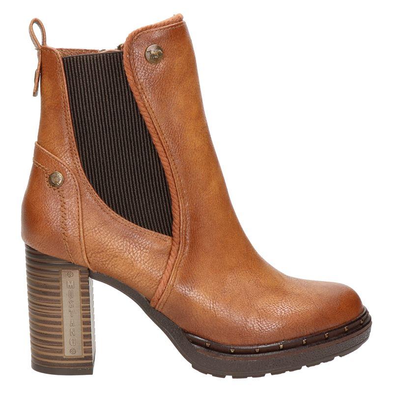 Mustang - Rits- & gesloten boots - Cognac