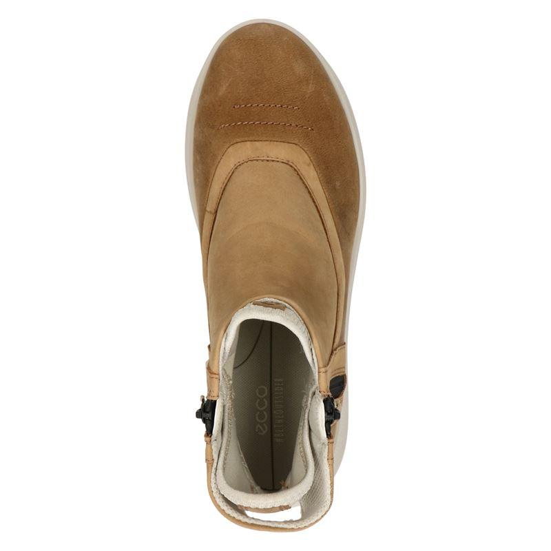 Ecco Solice - Rits- & gesloten boots - Cognac