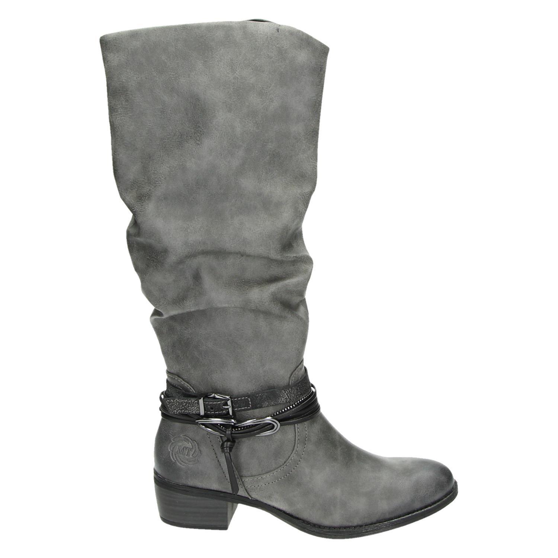 grijze hoge laarzen