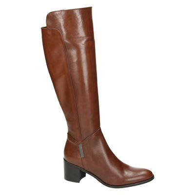 Nelson dames hoge laarzen Cognac