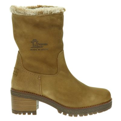 Panama Jack dames rits- & gesloten boots taupe