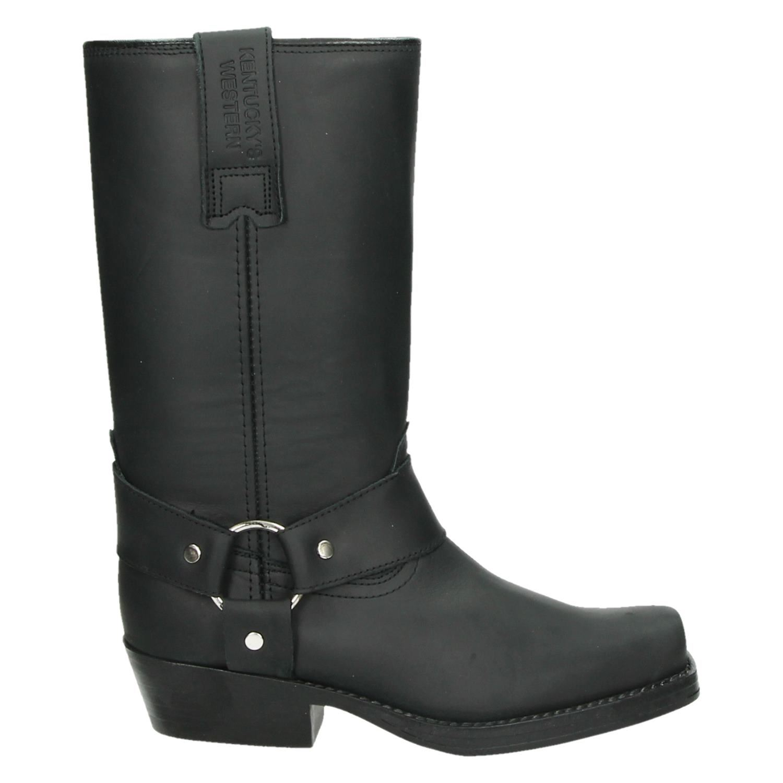 Kentucky's Western hoge laarzen zwart