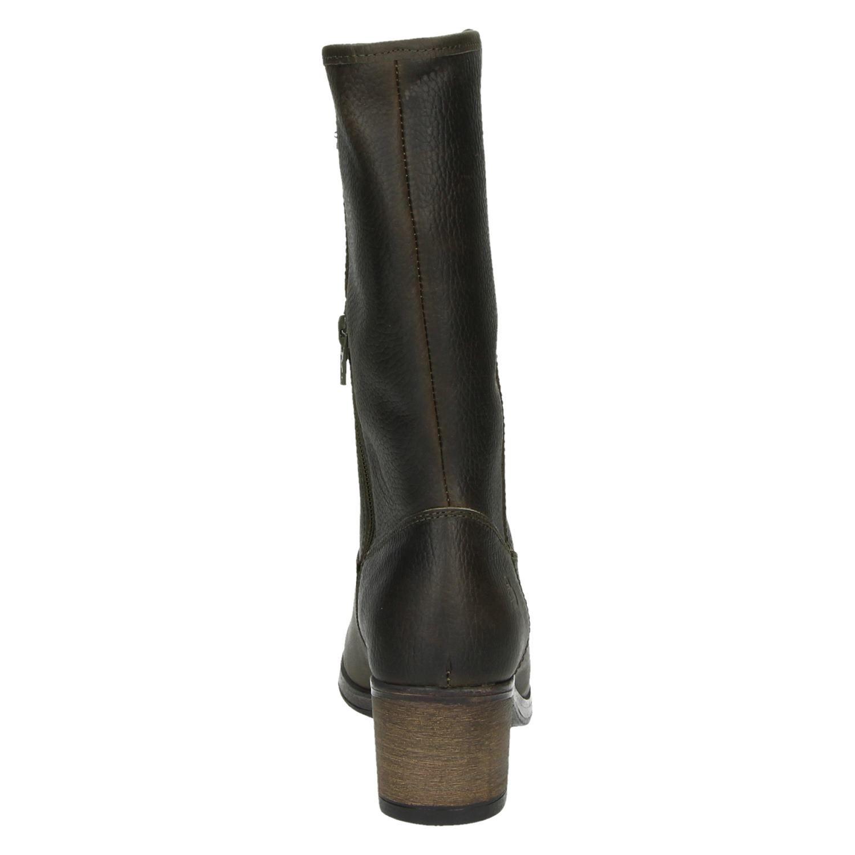 beter nieuwe producten redelijke prijs Bullboxer dames hoge laarzen kaki