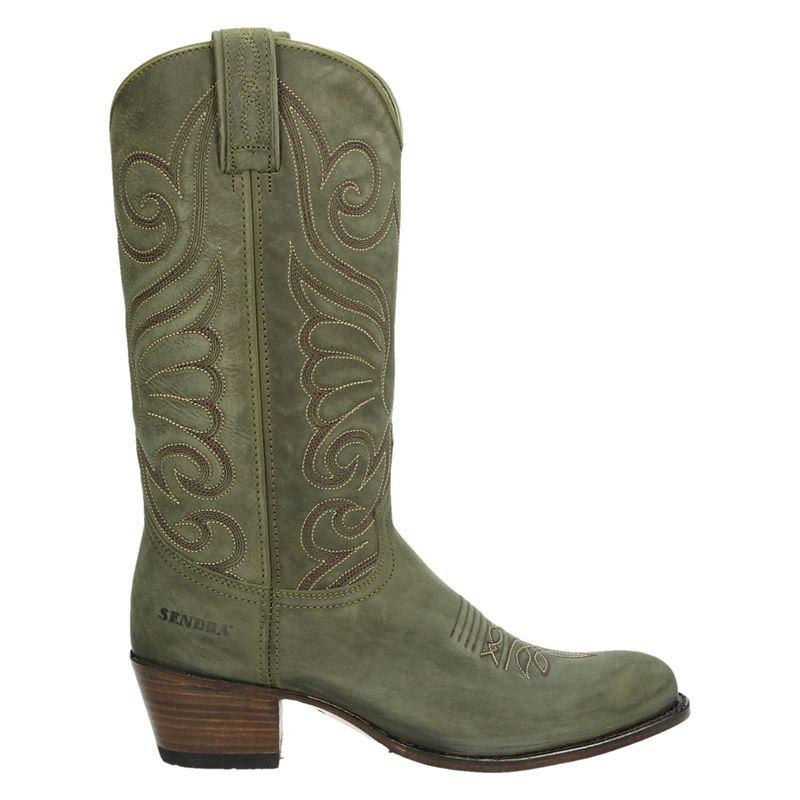 Sendra 11627 Debora - Cowboylaarzen - Groen
