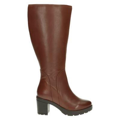 JJ Footwear dames laarzen cognac
