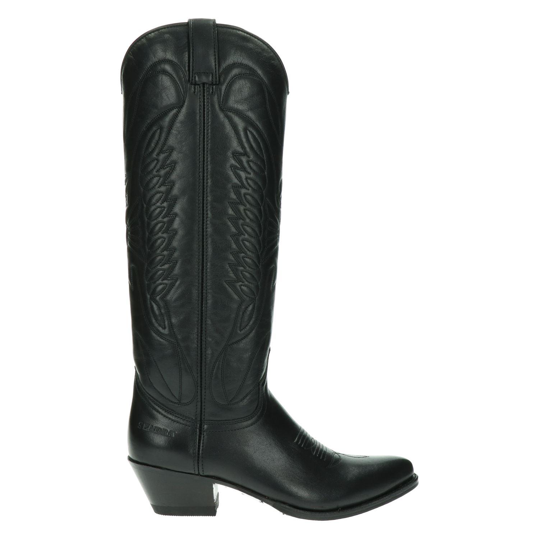 Sendra 8840 Lia Cowboylaarzen voor dames Zwart Nelson.nl