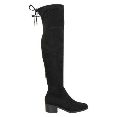 Steve Madden Gerardine Overknee laarzen voor dames Zwart