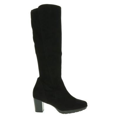 laarzen zwart suede plat