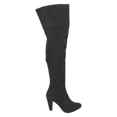 PS Poelman dames hoge laarzen zwart