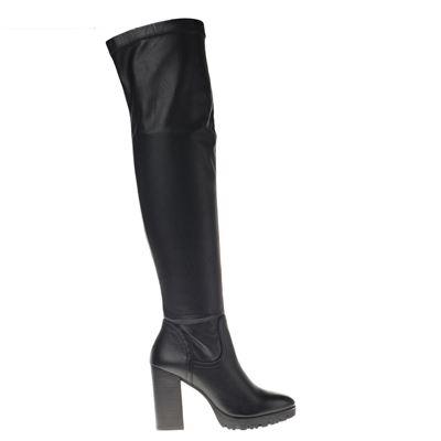 Hobb's dames hoge laarzen zwart