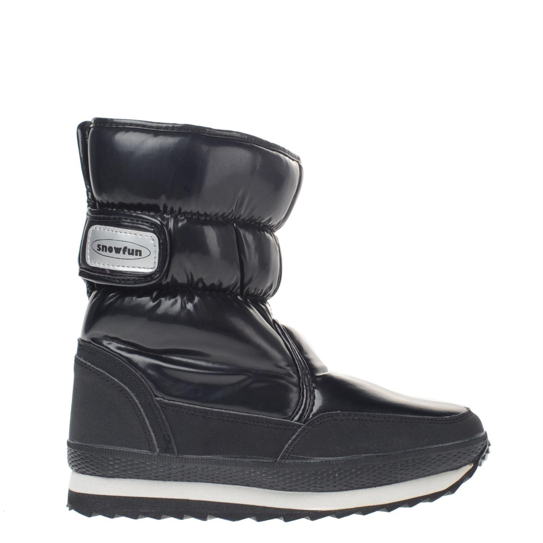 Chaussures Fun Neige Noir Avec Velcro Pour Les Hommes teD13KEd