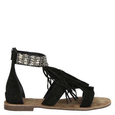 Lazamani dames sandalen zwart