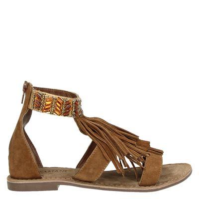Lazamani dames sandalen cognac