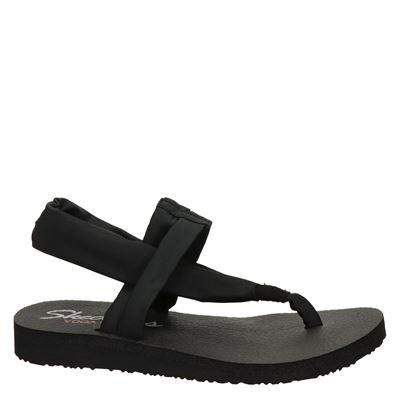 Skechers dames sandalen Zwart