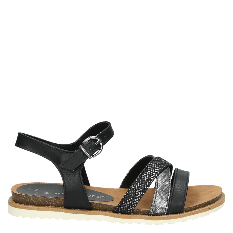 marco tozzi dames sandalen zwart. Black Bedroom Furniture Sets. Home Design Ideas