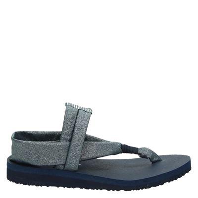 Skechers dames sandalen zilver