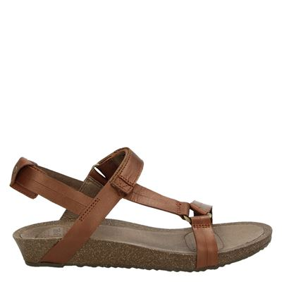 Teva dames sandalen cognac