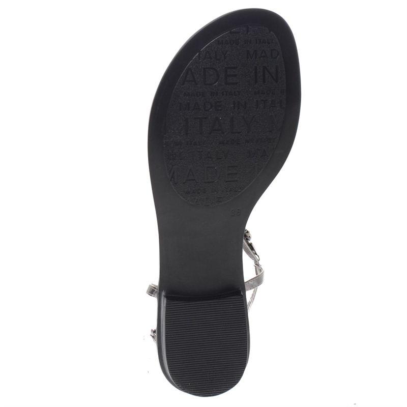 Hobb's dames sandalen zilver, 261.460.10-92-7