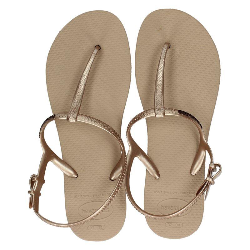 a822af0c293541 Havaianas Freedom dames sandalen goud