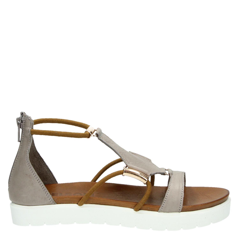 New Nelson dames sandalen grijs &AZ55