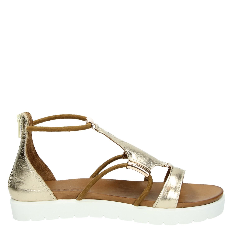 exclusieve deals wereldwijd verkocht gewoonte Nelson dames sandalen goud