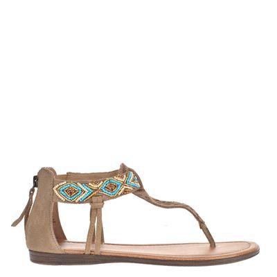 Minnetonka dames sandalen taupe