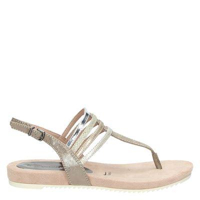 Tamaris dames sandalen taupe