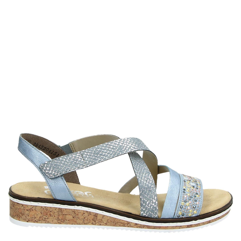 rieker dames sandaal blauw