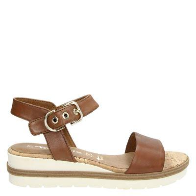 Tamaris dames sandalen cognac