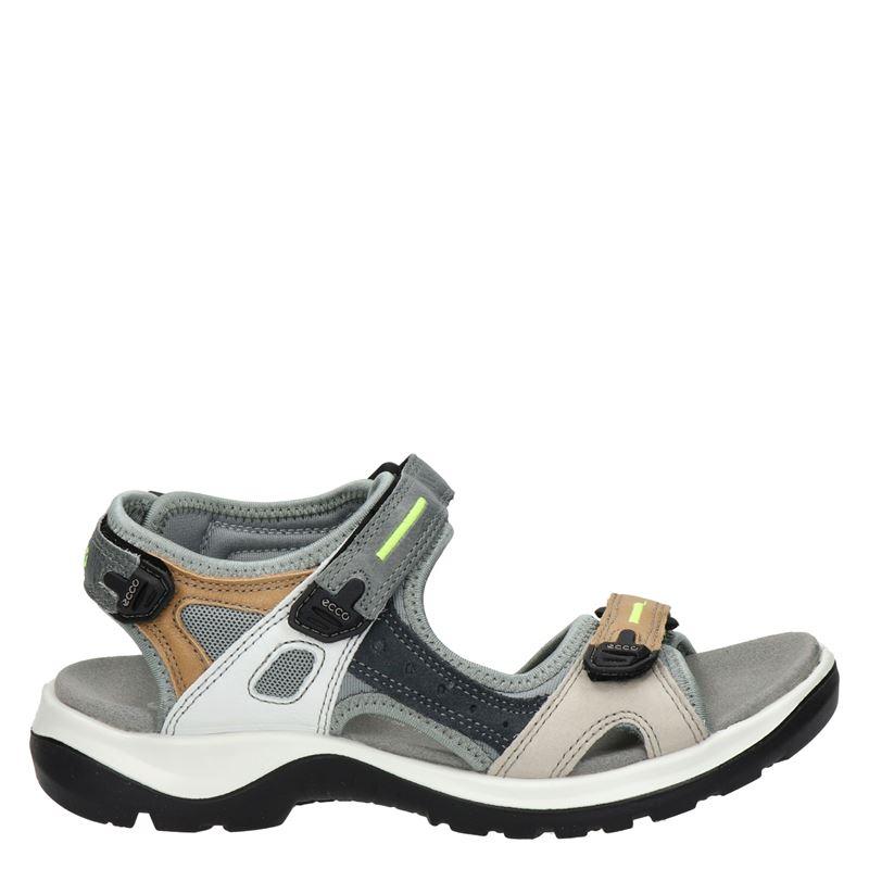Ecco dames sandalen in het licht grijs kopen? Nelson.nl