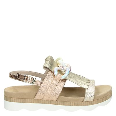 Tosca Blu dames sandalen goud