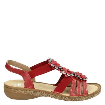 Rieker dames sandalen rood