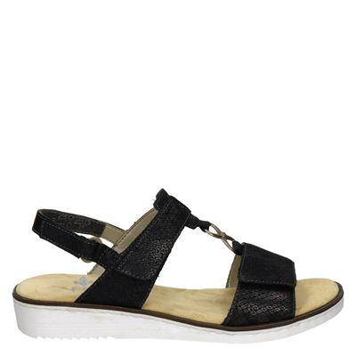 Rieker dames slippers grijs