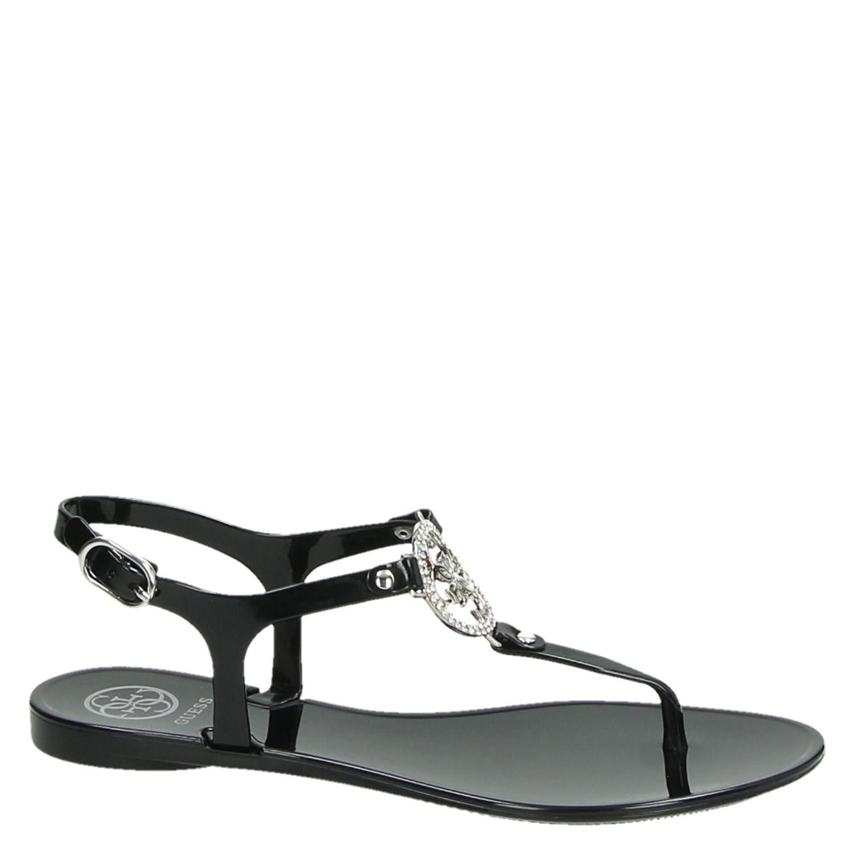 Guess sandalen zwart Damesschoenen.nl