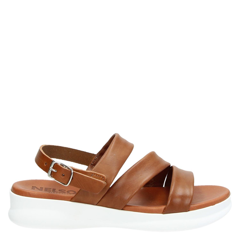 Nelson dames sandaal Cognac Maat 41
