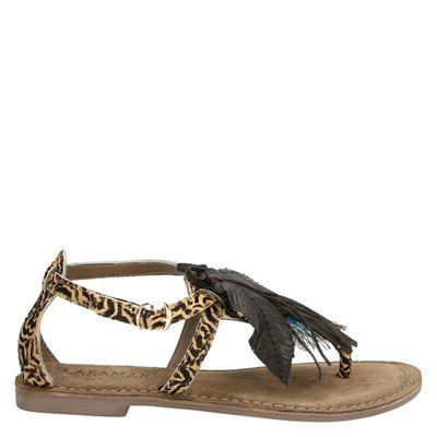 Lazamani dames sandalen bruin