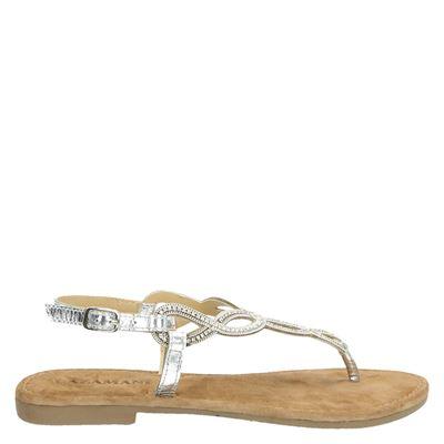 Lazamani dames sandalen zilver