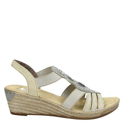Rieker dames sandalen goud