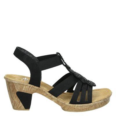 Rieker dames sandalen zwart