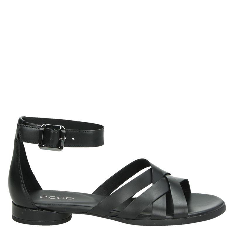 Ecco Flat - Sandalen - Zwart