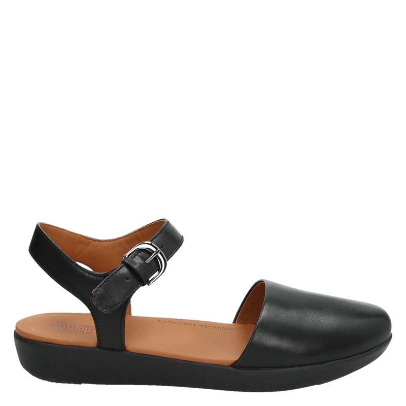 Fitflop Cova 2 Leather Ballet - Sandalen - Zwart