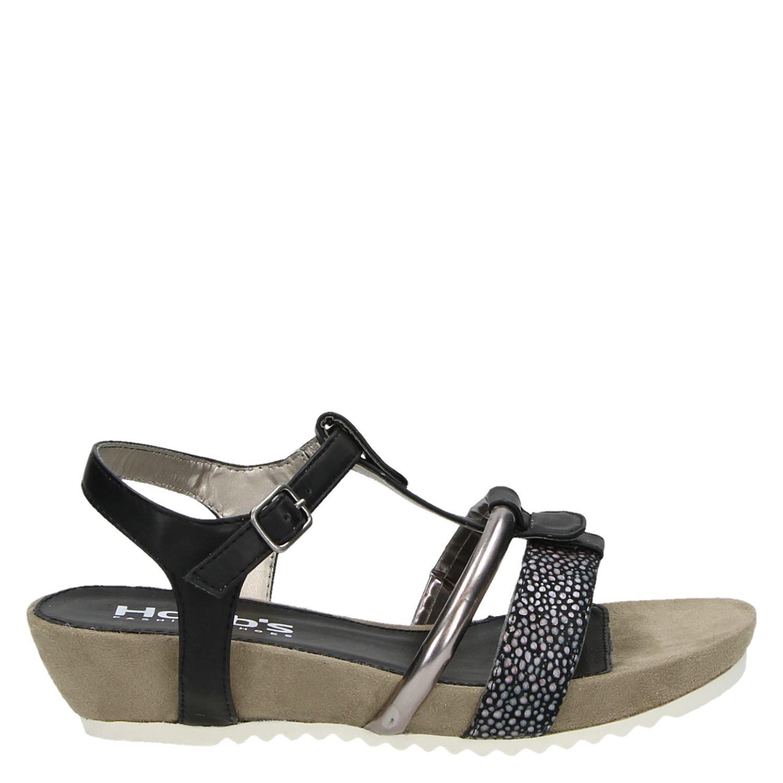 zwarte dames sandalen