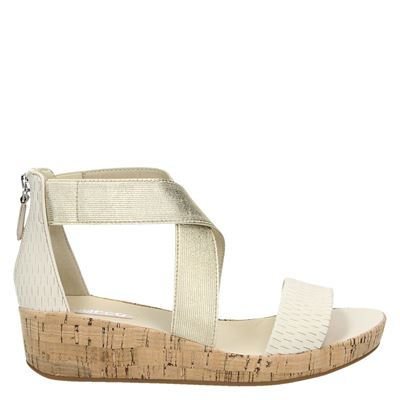 Ecco dames sandalen ecru