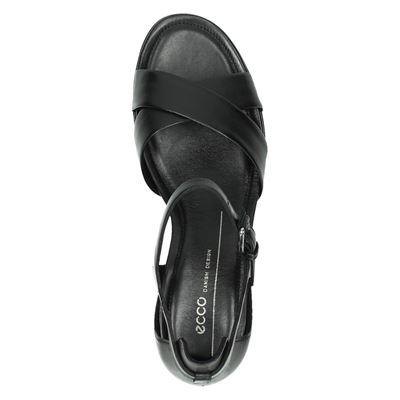 Ecco Shape 35 blockdames sandalen Zwart