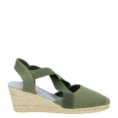 Hobb's dames espadrilles groen