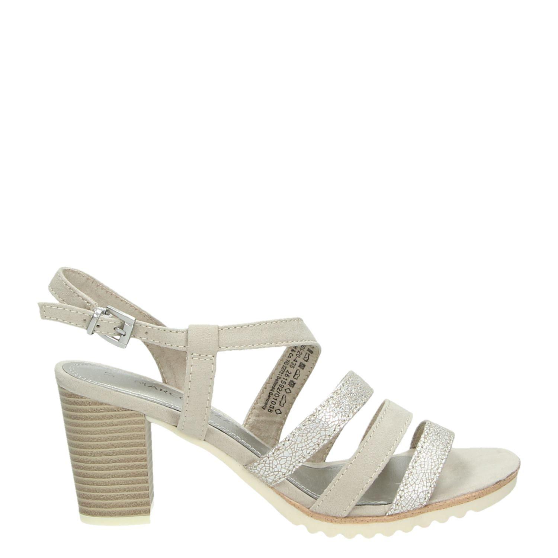 marco tozzi dames sandalen beige. Black Bedroom Furniture Sets. Home Design Ideas