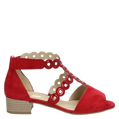 Gabor dames sandalen rood