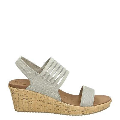Skechers dames sandalen taupe