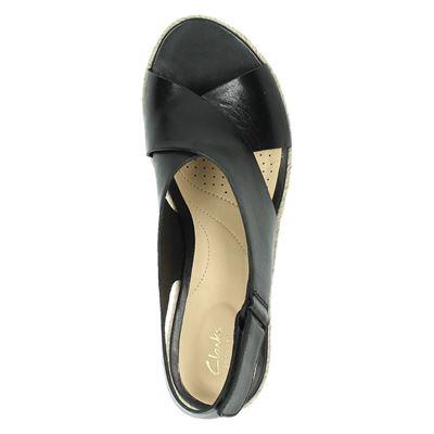 Clarks Palm Glowdames sandalen Zwart