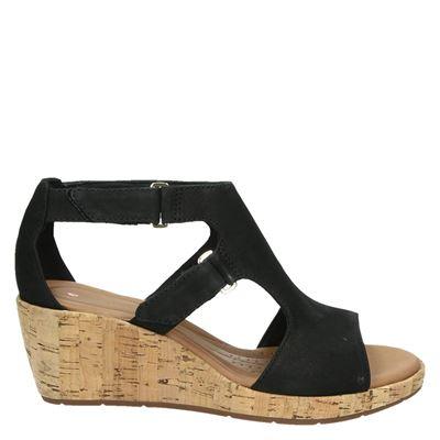 Clarks dames sandalen zwart
